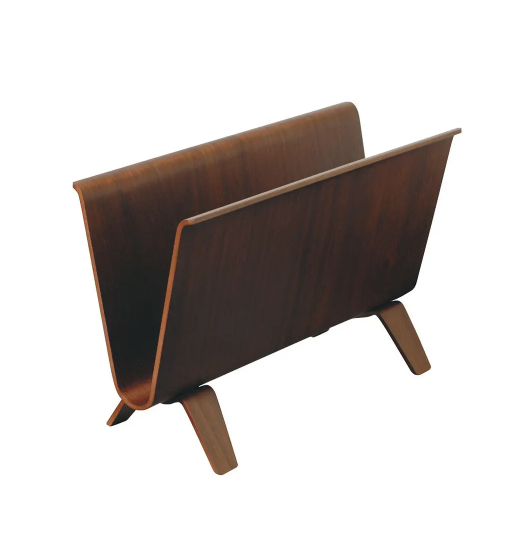 Saito magazine holder walnut